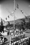 Поднятие флага в пионерском лагере «Артек»