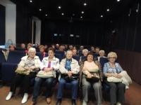 Члены Союза Пенсионеров Подмосковья г. Химки перед кинопросмотром в кинозале РГАКФД