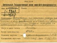 Каталожная карточка, составленная Н.А. Раевской