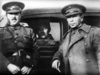 Генерал Лукач (Мате Залка) и советский военный советник П.И. Батов. Испания. 1936-1937 гг. РГАКФД