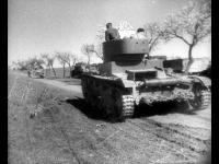 Части советской бронетанковой бригады комбрига Д. Павлова на марше Испания. 1936-1937 гг. РГАКФД
