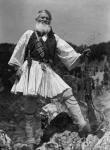 90-летний партизан из Народно-освободительной армии Греции Геро Цекурас  Греция. 1945 г.  Фотограф неизвестен  РГАКФД. Арх. № 4-24953