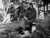Александр Исаевич Солженицын на отдыхе в поселке Солотча. Рязанская обл., п. Солотча, 1967 г. Автор Н.А. Решетовская. РГАКФД.