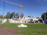 Строительство нового корпуса РГАКФД панорама вид с перекрестка Павшино