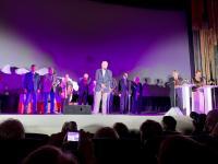 Члены жюри на церемонии открытия; у микрофона – председатель жюри, писатель, киносценарист, лауреат государственных и  литературных премий Юрий Поляков