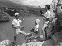 Группа азербайджанских пионеров на отдыхе в пионерском лагере «Артек».