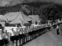 Утренняя линейка в Нижнем лагере «Артек».