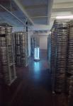 Обработка бактерицидной лампой помещения позитивного фильмохранилища