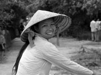 Жительница Вьетнама (портрет). Вьетнам. Июль 1978 г. Фотограф В.Б. Соболев.