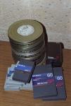 Видеокассеты формата BETACAM и коробки с кинодокументами