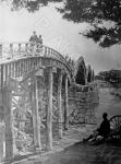 Мост Кинтай, состоящий из пяти арок, на реке Нишики. Япония, г. Ивакуни. Автор не установлен. РГАКФД.